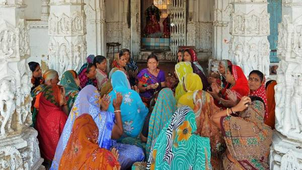 Photograph - Women Singing Devotionals At A Temple - Omkareshwar India by Kim Bemis