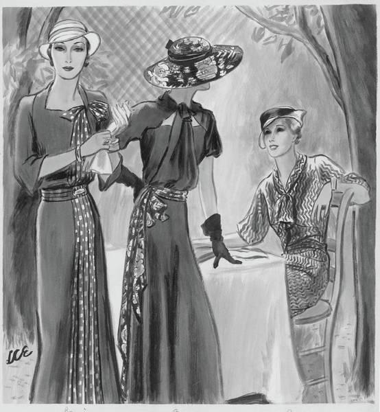 Dress Digital Art - Women Wearing Designer Dresses by Creelman