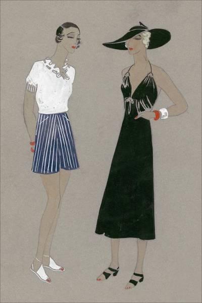 Vogue Digital Art - Women Wearing Ernst Von Dryden by Babs Rawlings