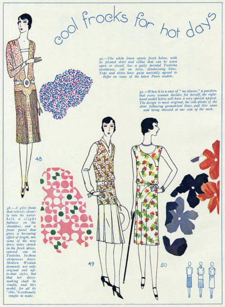 Wall Art - Drawing - Women Wearing Fashionable Clothing by Mary Evans Picture Library
