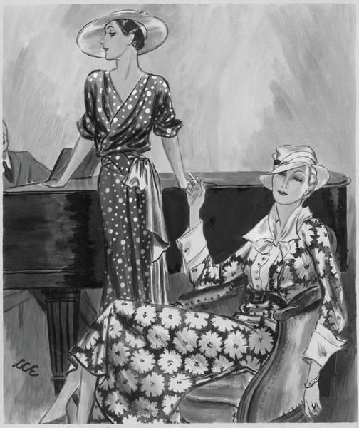 Digital Art - Women Wearing Printed Dresses by Creelman