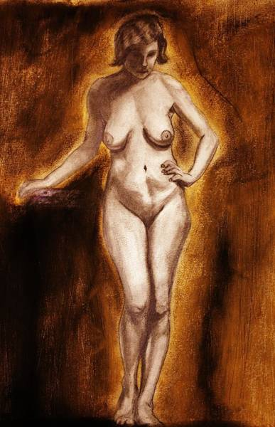 Drawing - Women With Curves Are Beautiful 2 by Michael Cross