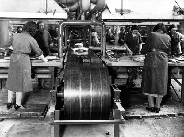 Armament Photograph - Women Working In A Car Factory by Oxford University Images/science Photo Library