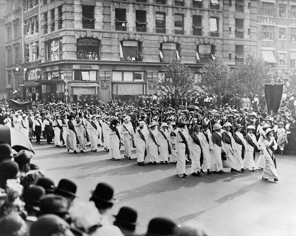 Photograph - Women's Rights Parade, 1913 by Granger