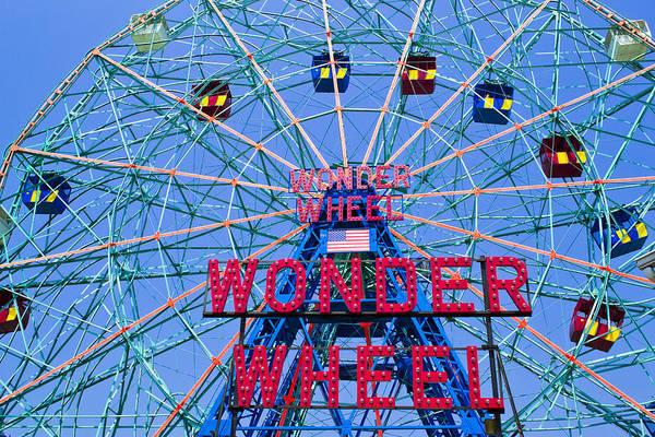 Photograph - Wonder Wheel by Theodore Jones