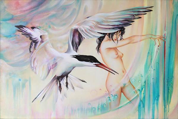 Painting - Wonderers by Anna Ewa Miarczynska
