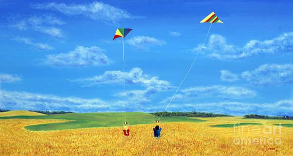 Prairie Painting - Wonderfull Wind by Blaine Filthaut