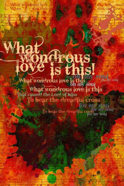 Digital Art - Wondrous Love by Chuck Mountain
