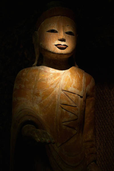 Photograph - Wood Buddha Statue by August Timmermans