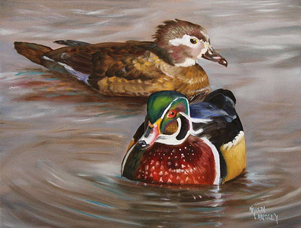 Wood Duck Duo Art Print