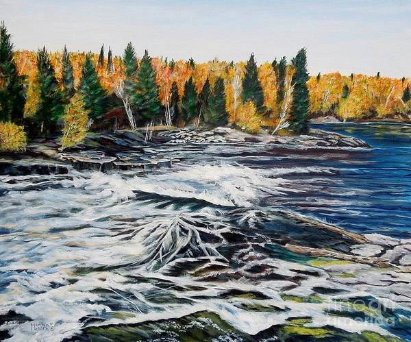 Painting - Wood Falls 2 by Marilyn  McNish