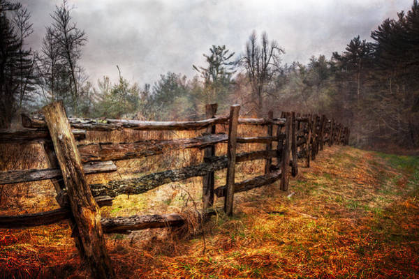 Asheville Wall Art - Photograph - Wood Fences by Debra and Dave Vanderlaan