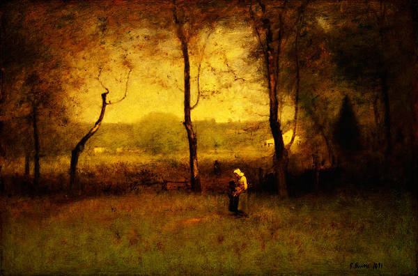 Painting - Wood Gatherers An Autumn Afternoon by Celestial Images