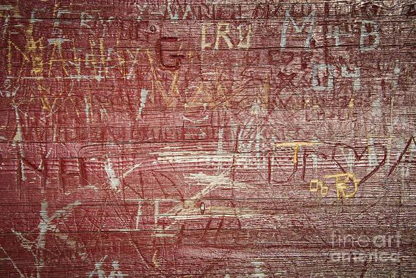 Wood Carving Photograph - Wood Graffiti by Elena Elisseeva