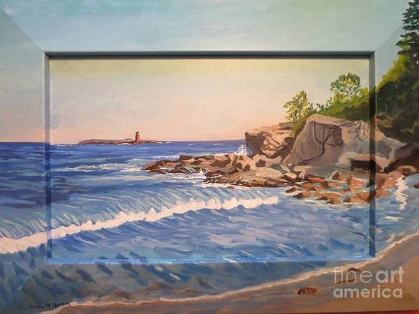 Painting - Wood Island Lighthouse In Biddeford Pool by Stella Sherman