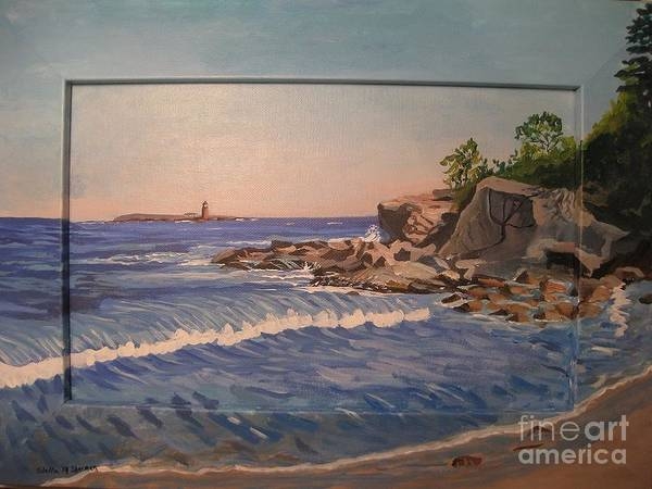 Painting - Wood Island Lighthouse by Stella Sherman