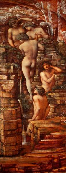 Dryad Wall Art - Painting - Wood Nymphs, 1881-85 by Sir Edward Coley Burne-Jones