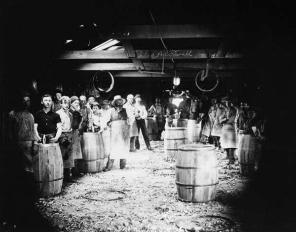 Photograph - Wood Oil Barrels, C1890 by Granger