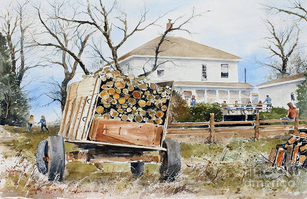 Painting - Wood Wagon by Monte Toon