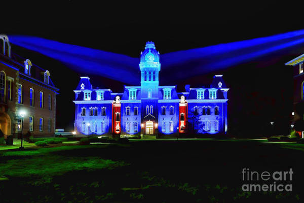 Photograph - Woodburn Lightup Blue And Gold by Dan Friend