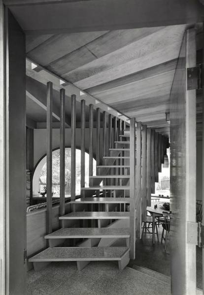 Dwelling Photograph - Wooden And Vinyl Staircase by Roger Sturtevant