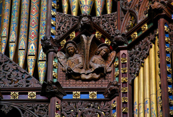 Wooden Angels Ely Cathedral Art Print
