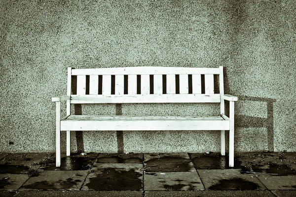 Ugly Photograph - Wooden Bench by Tom Gowanlock