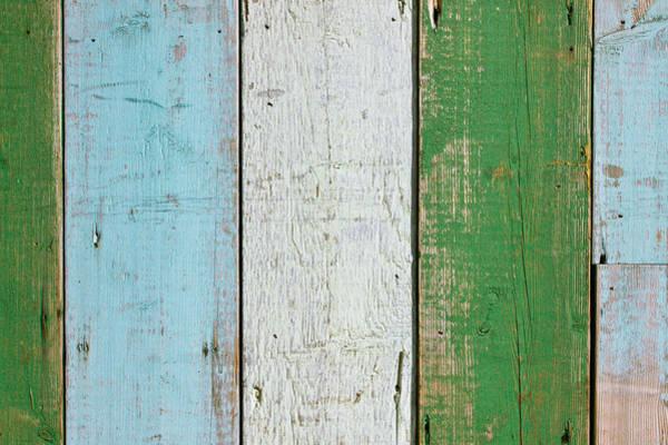 Aqua Green Photograph - Wooden Boards by Tom Gowanlock