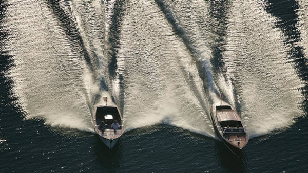 Photograph - Wooden Boat Aerial by Steven Lapkin