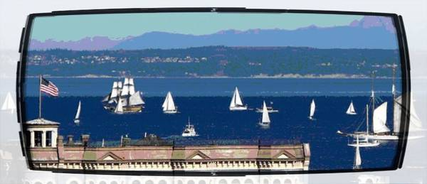 Port Townsend Digital Art - Wooden Boat Festival by Jo Cavanagh
