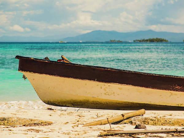 Panama Photograph - Wooden Boat On Land In San Blas Islands by Scott Hardesty