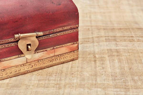 Latch Wall Art - Photograph - Wooden Box by Tom Gowanlock