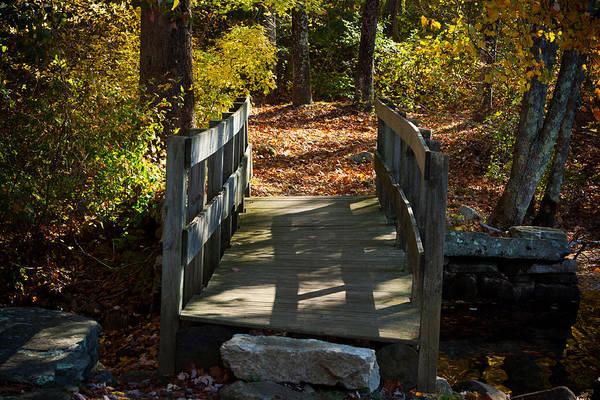 Photograph - Wooden Bridge - Ledyard Sawmill by Kirkodd Photography Of New England