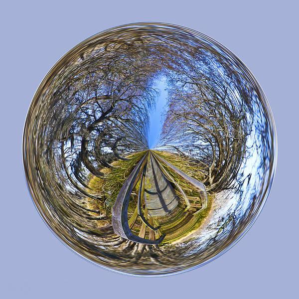Photograph - Wooden Bridge Orb by Bill Barber