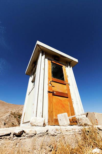 Outside Toilet Photograph - Wooden Building Against A Clear Blue Sky by Wladimir Bulgar