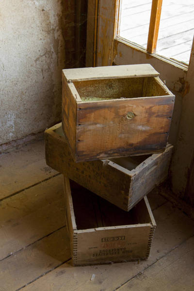 Photograph - Wooden Crates by Fran Riley