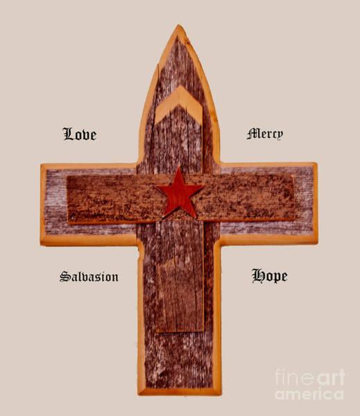 Photograph - Wooden Cross by Mae Wertz