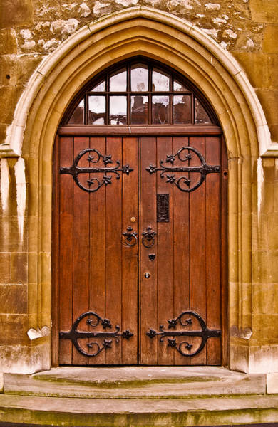 Wooden Door At Tower Hill Art Print