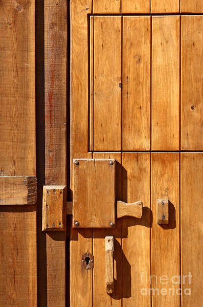 Entry Photograph - Wooden Door Detail by Carlos Caetano
