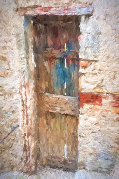 Photograph - Painted Effect - Wooden Door by Susan Leonard
