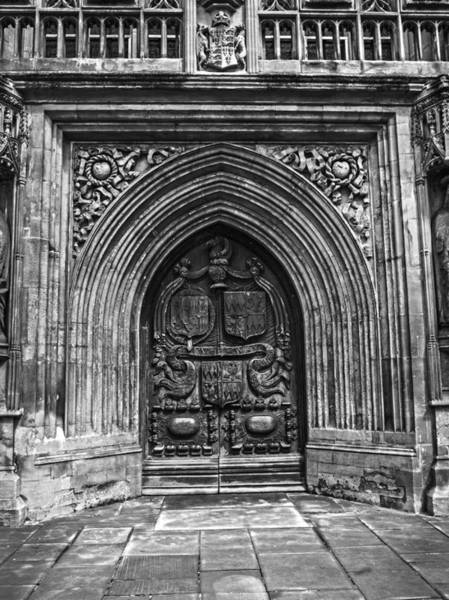 Photograph - Wooden Door To Bath Abby by Denise Dube