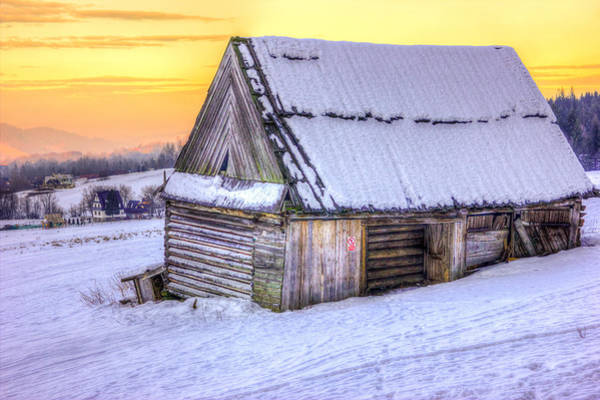 High Tatras Wall Art - Photograph - Wooden Hut In Sunset by Pati Photography