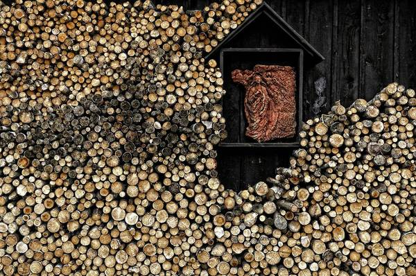 Fuel Wall Art - Photograph - Wooden Madonna by Konrad Szuszkiewicz