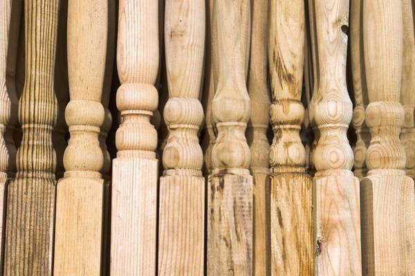 Baluster Wall Art - Photograph - Wooden Posts by Tom Gowanlock