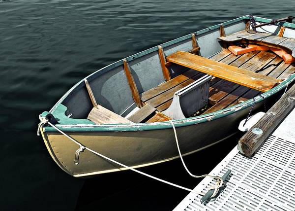 Photograph - Wooden Rowboat by Patricia Strand