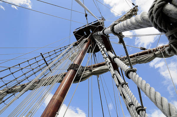 Photograph - Wooden Ship Mast by Bradford Martin