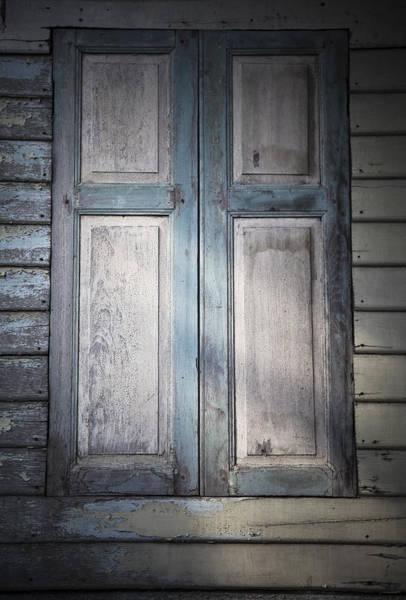 Photograph - Wooden Shutter by Maria Heyens