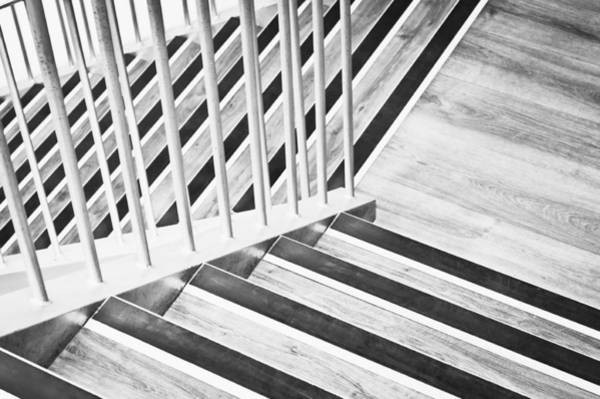 Metal Furniture Photograph - Wooden Stairs by Tom Gowanlock