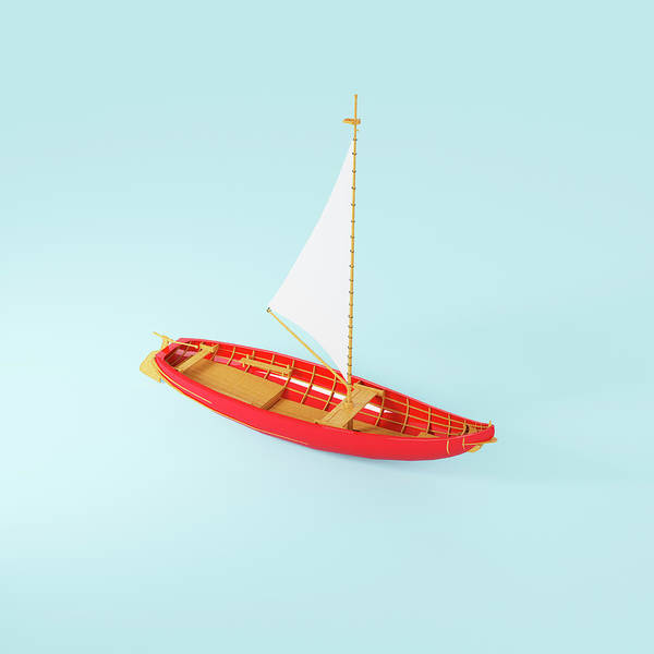 Sailboat Photograph - Wooden Toy Sailing Boat by Jon Boyes