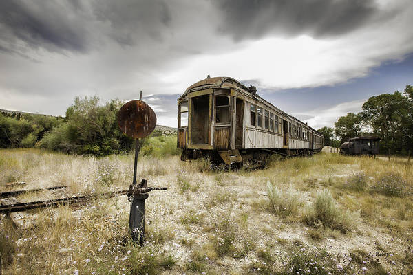 Photograph - Wooden Train - Final Resting Place  by Fran Riley